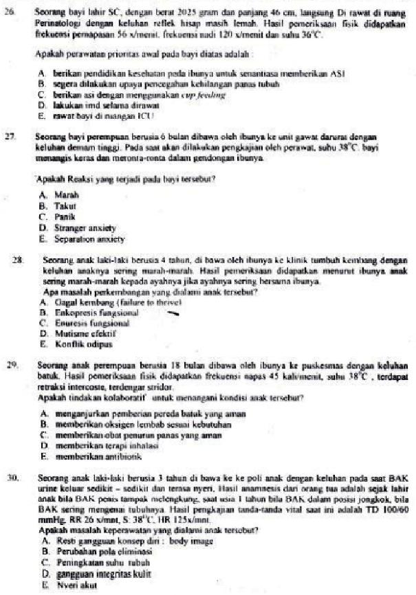 Contoh Soal Tes Tertulis Seleksi Cpns Atau Tenaga Non Pns Jabatan Perawat Keperawatan Maju