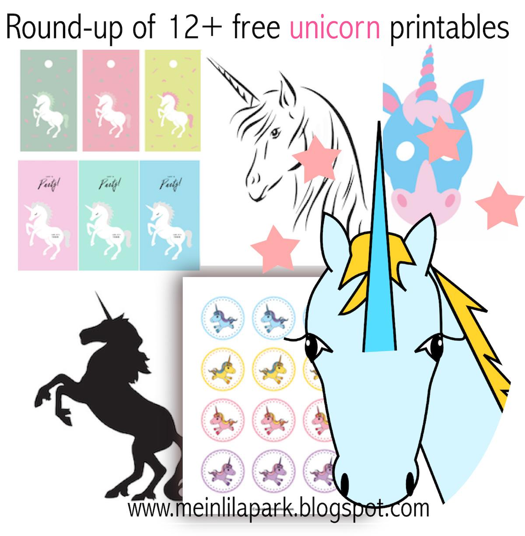 12 free unicorn printables einhorn round up