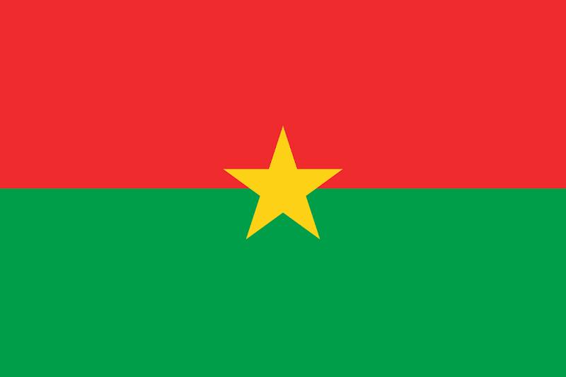 Logo Gambar Bendera Negara Burkina Faso PNG JPG ukuran 800 px