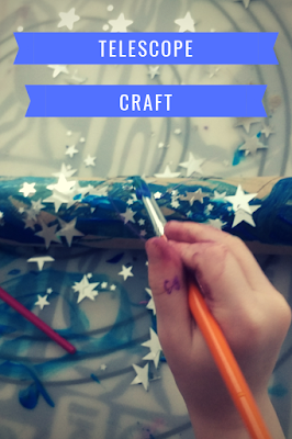 Easy telescope craft for toddlers and preschoolers.