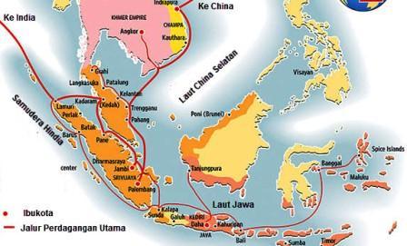 peta perdagangan sriwijaya