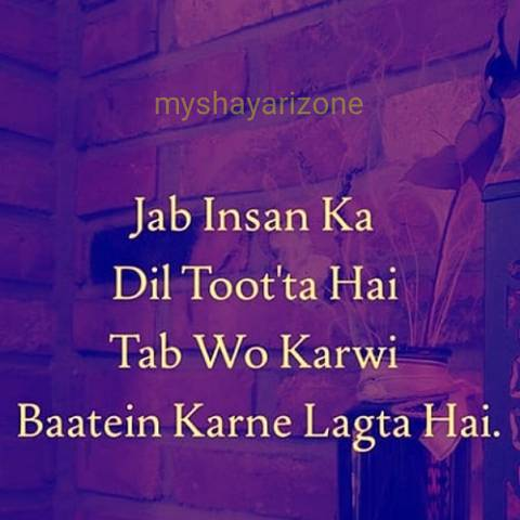 Broken Heart Toote Dil Ki Baatein Sad Picture Hindi Shayari