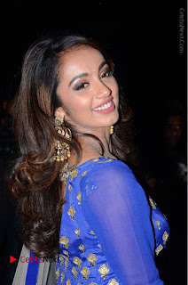 Telugu Actress Tejaswi Madivada Pos in Blue Long Dress at Nanna Nenu Na Boyfriends Audio Launch  0018.JPG