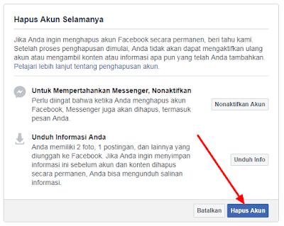 Cara Menghapus Akun FB Secara Permanen