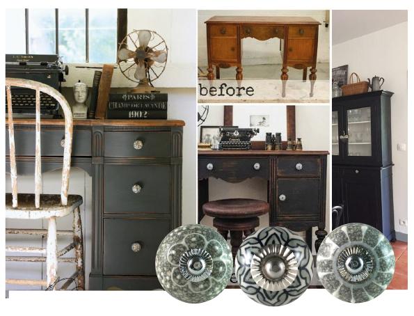 bouton de meuble vintage
