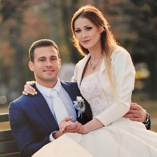 Bojana with her husband during their wedding