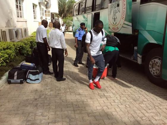 Nigeria Super Eagles Team arrive in Kaduna