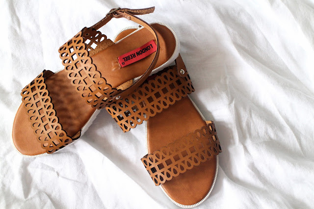 Brown leather sandals from ASOS