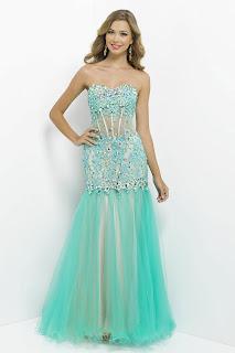 modelo de vestido sereia azul - looks, fotos e dicas