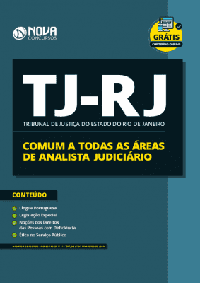 Apostila Concurso TJ RJ 2020 Comum a Todas as Áreas de Analista Judiciário Grátis Cursos Online