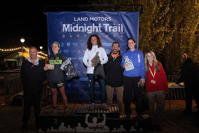 Podio Femenino Land Motors Midnight Trail Barcelona 2017