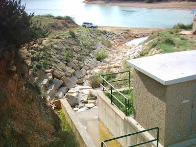 Pantano ,embalse, Pena ,Beceite ,frontera ,Valderrobres, túnel Parrizal