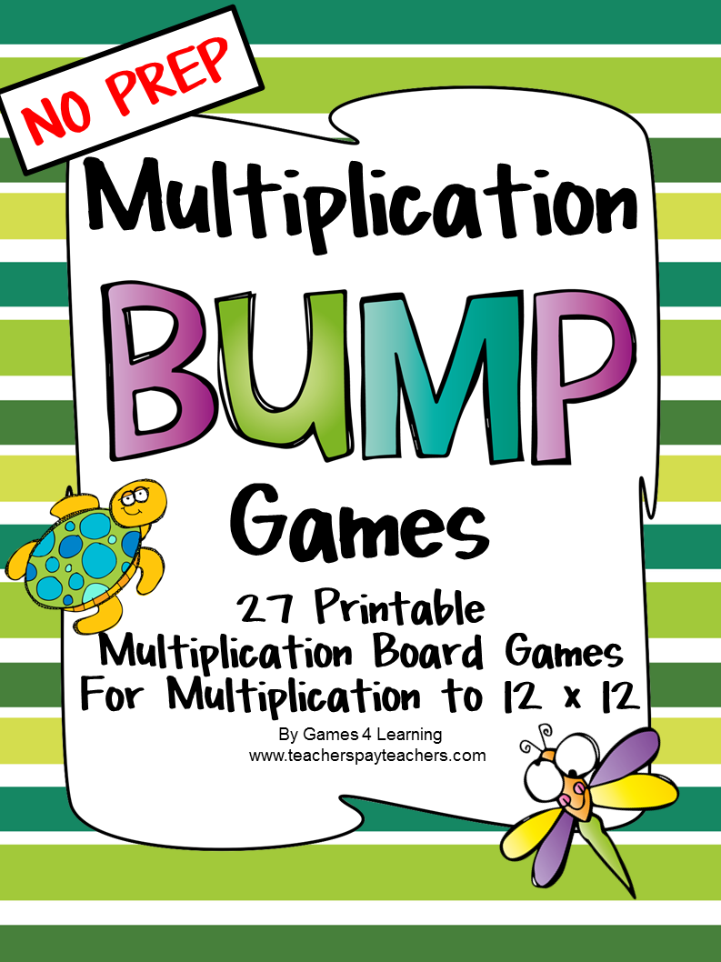 Fun Games 4 Learning Bump Bump Bump Bump Math Games – Multiplication Games Worksheet