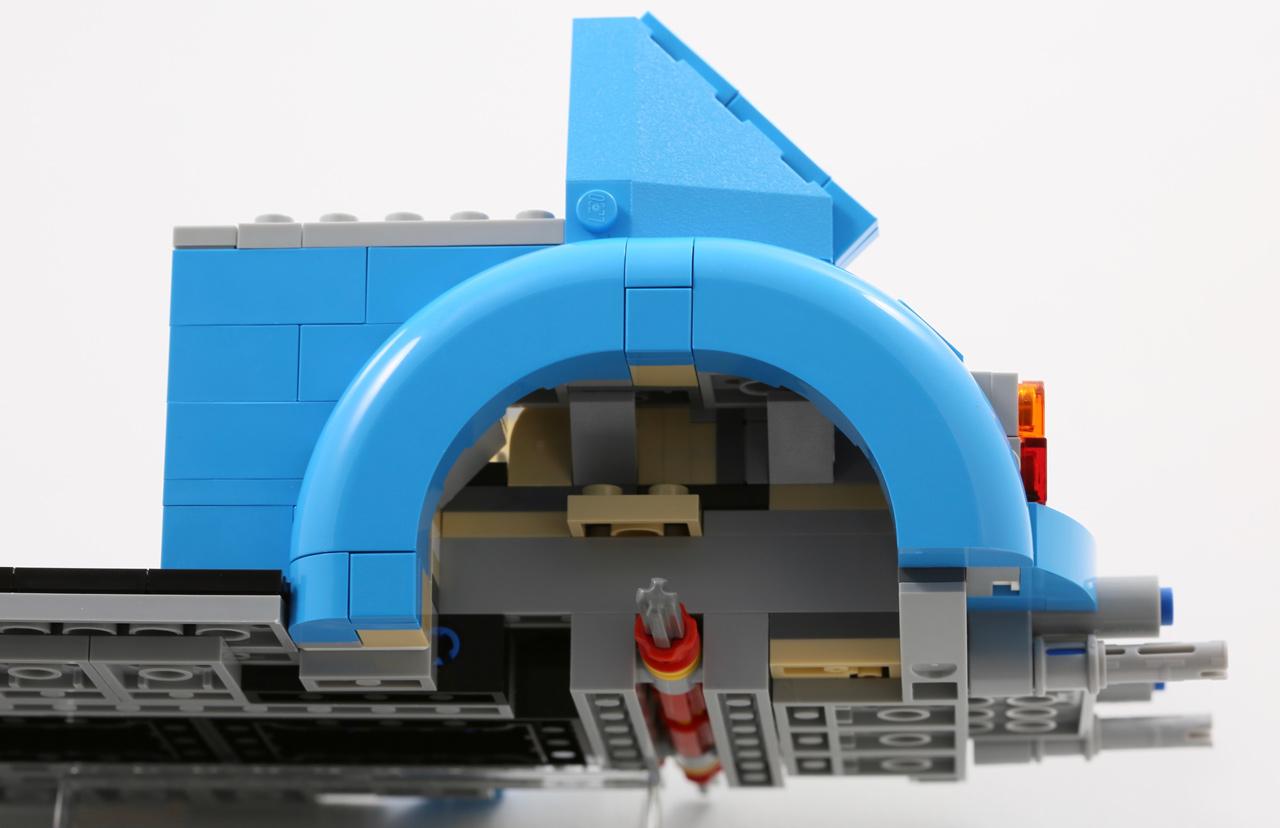 Lego 4 Blue 1x2 Roof Finish Tile 30 degree Slopes NEW
