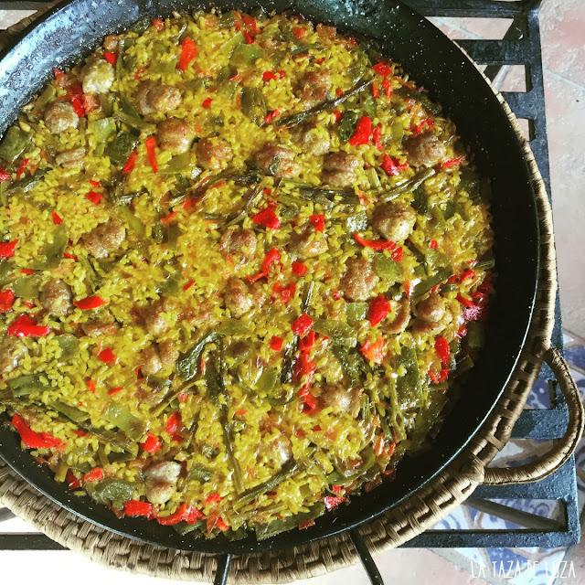 Arroz-con-butifarra-y-verduras