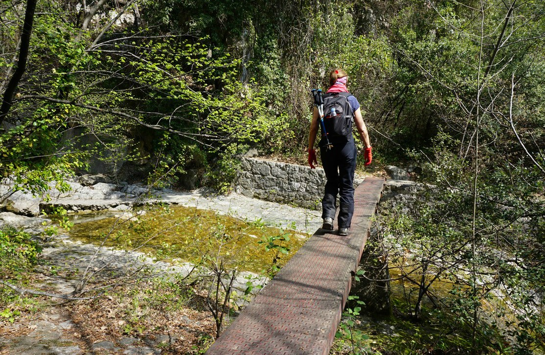 Crossing a tributary of River Loup