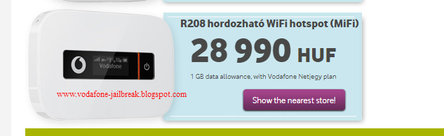 How to Unlock Vodafone R208 MiFi Hungary 4G Wifi Router