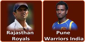 आइपीएल 6 का बारहवां मैच Subrata Roy Sahara Stadium, Pune में होने जा रहा है।