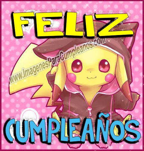feliz cumpleaños pikachu