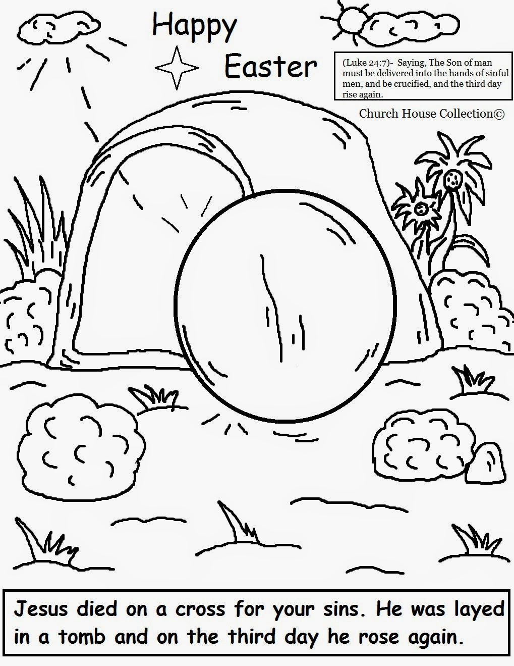 church house collection blog easter jesus resurrection coloring pages