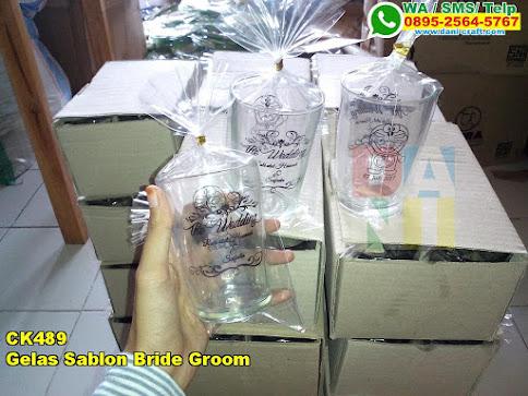 Toko Gelas Sablon Bride Groom