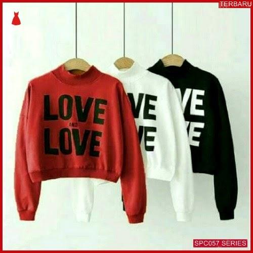 SCP057S32 Sweater Love Crop Outerwear Wanita | BMGShop