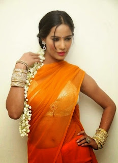 Poonam Pandey Latest Saree Stills@FilmyTrend (9)