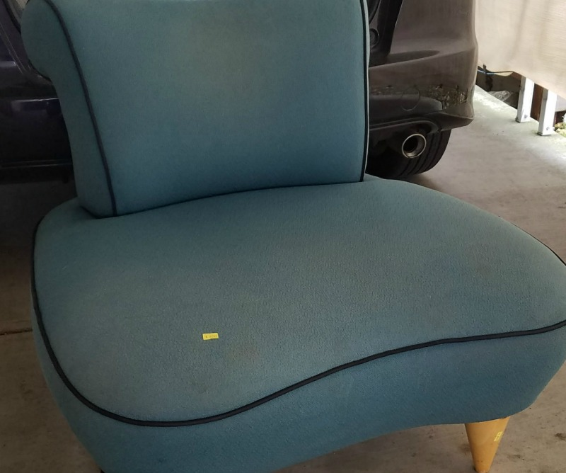 heavily stained new thrift chair