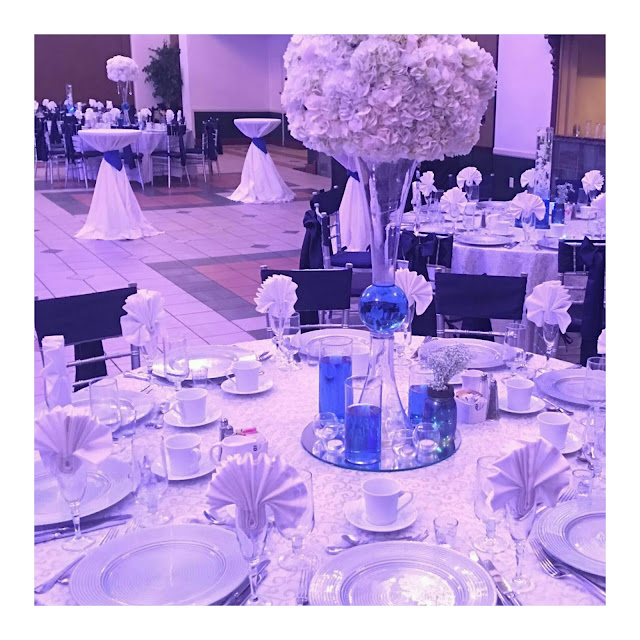 white wedding, wedding, tall centerpiece, hydrangeas, eventsojudith.blogspot.com