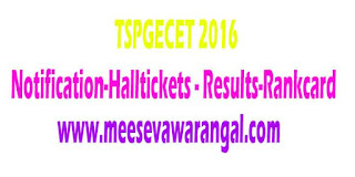 TS PGECET 2017 Notification Application Form Telangana
