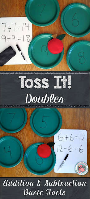 Actively engage your first and second graders while adding and subtracting basic facts with Toss It!