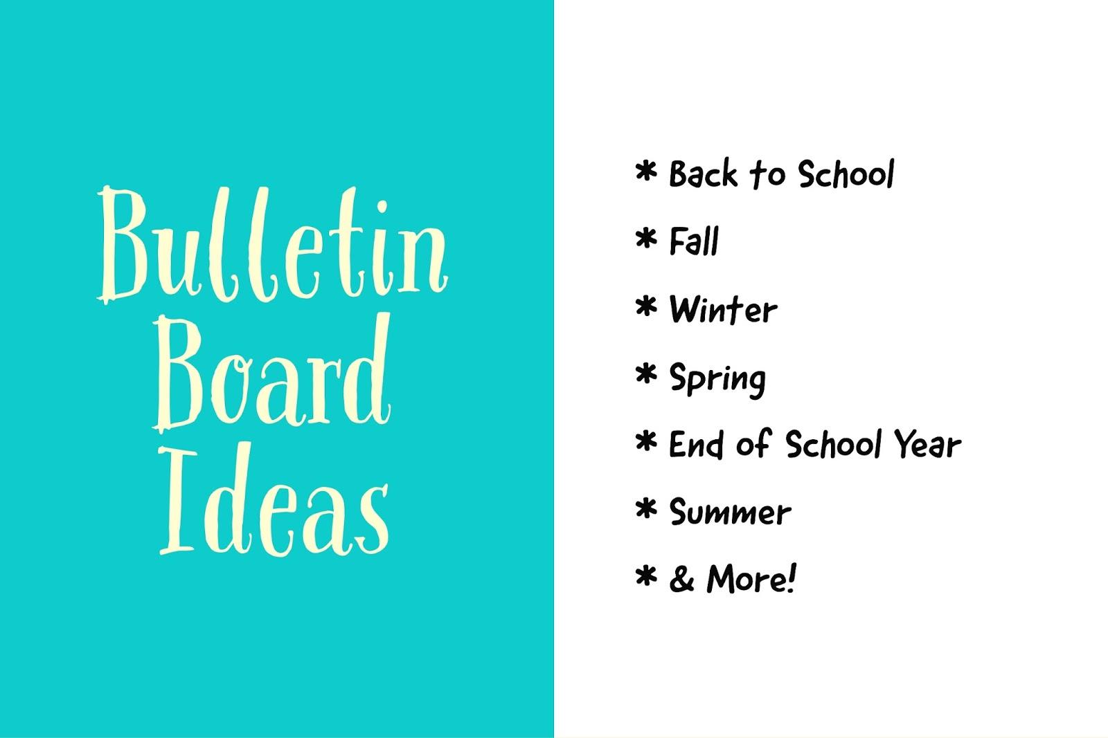 fun ideas for kids bulletin board ideas