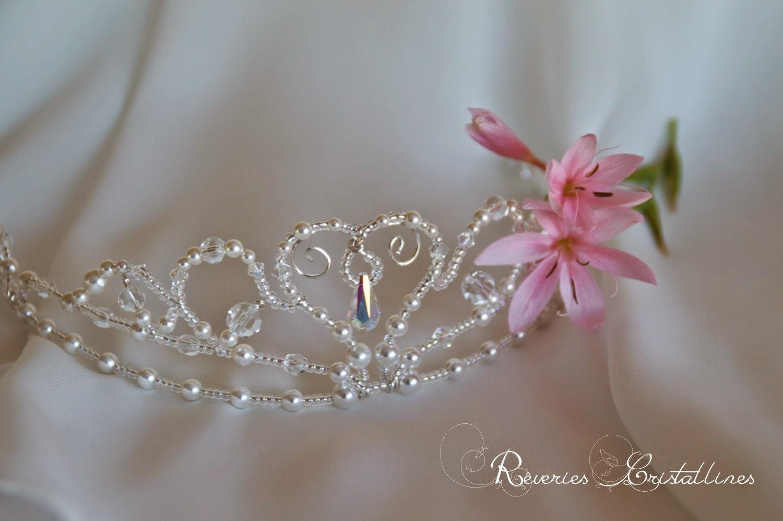 couronne princesse perles