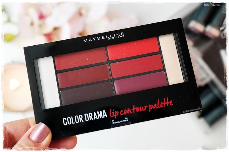 Maybelline Color Drama Lip Contour Palette 01 Crimson Vixen Larc