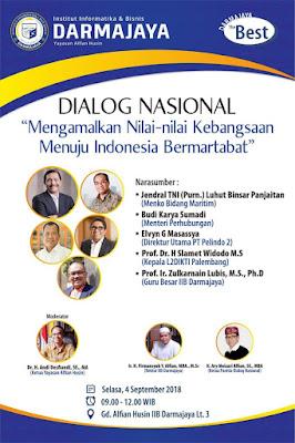 Dialog Nasional Kebangsaan IIB Darmajaya Hadirkan Dua Menteri