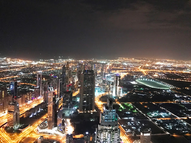 Night view of Dubai from Burj Khalifa
