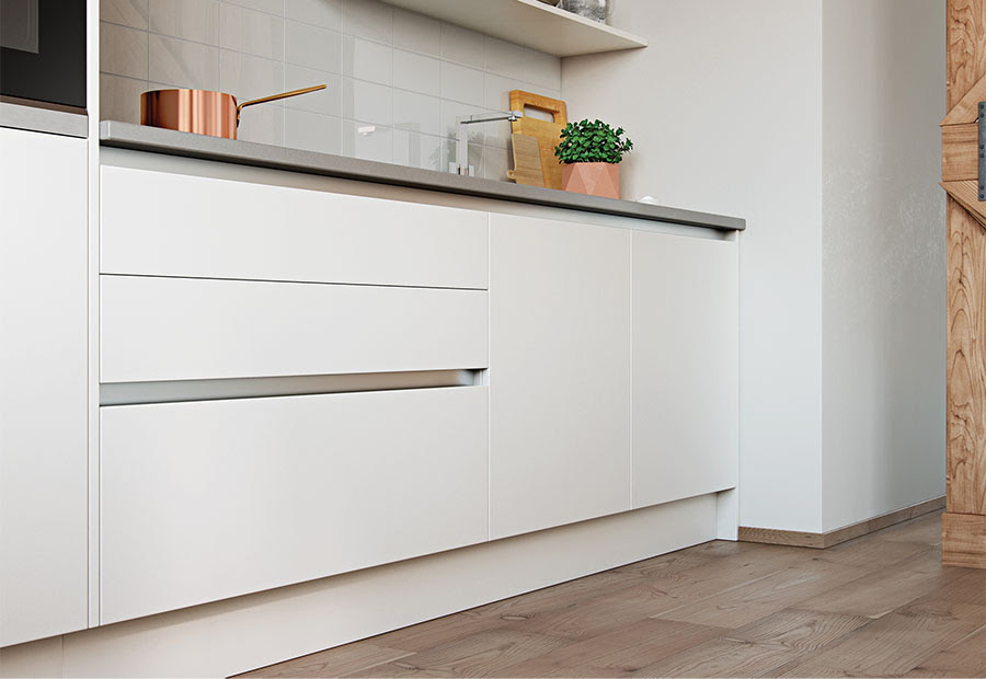 To Meet The Growing Trend Towards True Handle Less Kitchens, Uform Has  Introduced A Gola Rail System And Compatible Door And Accessory Sizes In  Zola Gloss ...