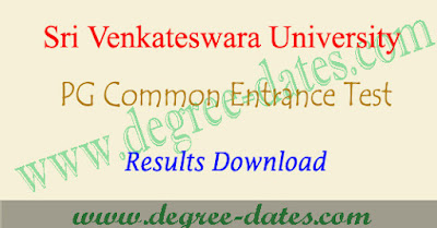 SVUCET results 2018 svu pgcet rank card download at manabadi