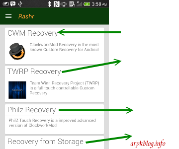 Flashing Recovery On Any Android Using Rashr