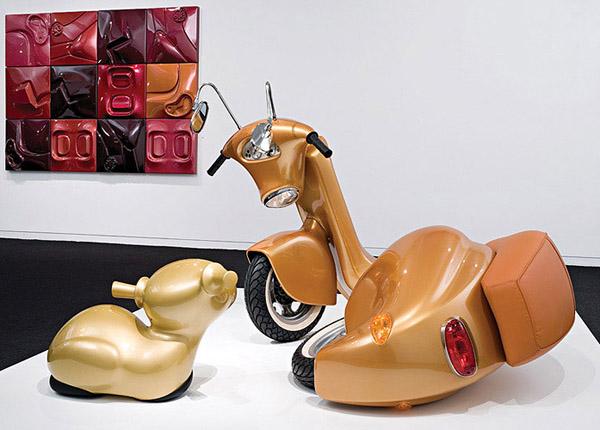 Esculturas muy creativas inspiradas en motos