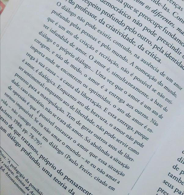 Citação Paulo Freire para TCC