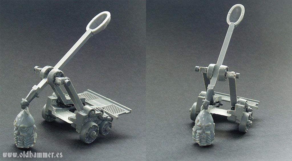 dwarf stone thrower conversion lanzador de agravios enano