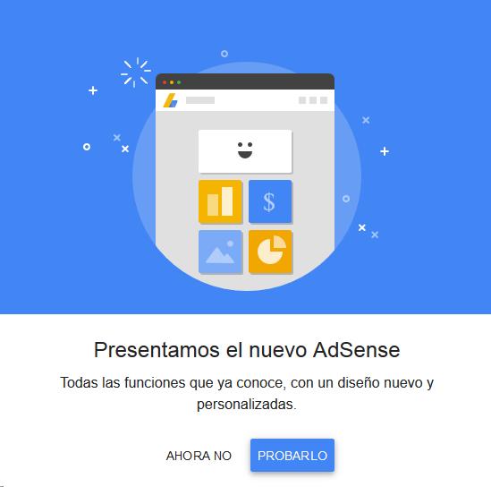 Actualización de la página de Adsense Nuevo Diseño