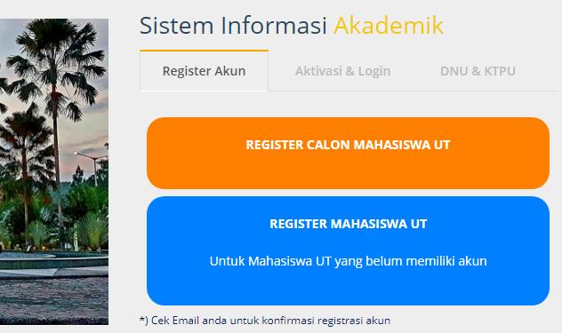 Cara Registrasi Akun SIA UT
