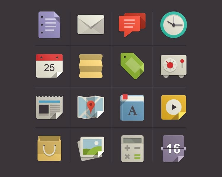 Flat design Icon Set vol.1