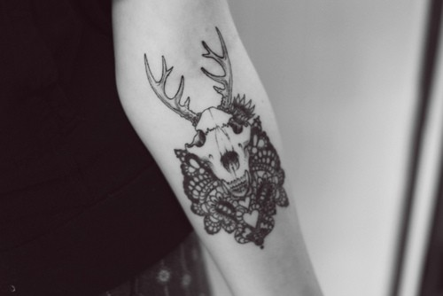 deer+skull+tattoo