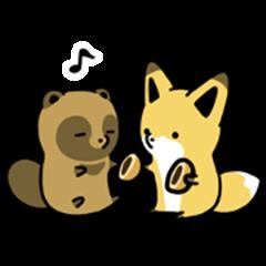 Raccoon dog & Fox 3