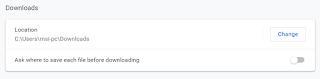 Cara Mengubah Lokasi Folder Download di Google Chrome PC Tutorial Mengubah Lokasi Folder Download di Google Chrome PC