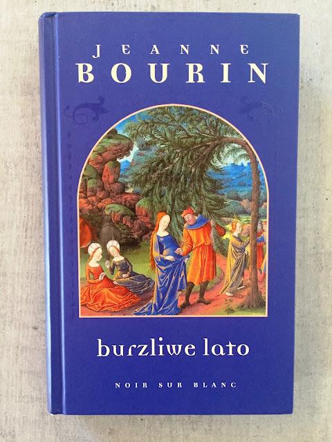 """Recenzje #89 - """"Burzliwe lato"""" - okładka książki pt. """"Burzliwe lato"""" - Francuski przy kawie"""
