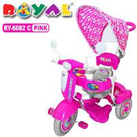 royal ry6082c scooter sepeda roda tiga anak